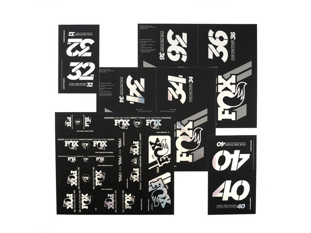 Fox Racing Shox AM Heritage Decal Kit for Fork and Shock, chrome